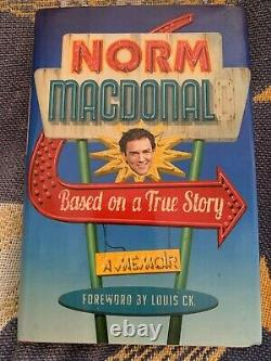 Norm Macdonald Autographed Based On A True Story 2016 Autobiography Rip Norm