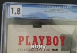 ORIGINAL Playboy #1 December 1953 CGC 1.8