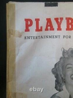 Original Playboy Magazine Marilyn Monroe First Issue December 1953