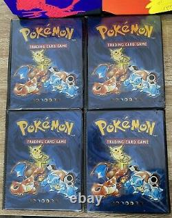 Original Pokemon Collector's Album Card Binder 1999 WOTC + Base Set Holo In Each