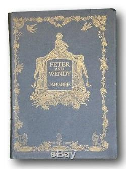 Peter and Wendy ORIGINAL 1ST ISSUE JACKET 1911 J. M. Barrie 1st edition fine