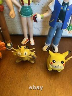 Pokemon Action Figure Tomy Vintage Ash Misty Brock Auldey Trainer Lot CGTSJ 1998