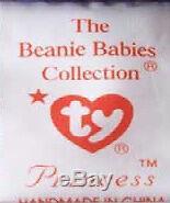 Princess Diana Beanie Baby Bear 1st Ed #1 1997 PVC China MWMT True History Here