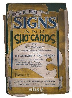 Rare In Dj, How To Paint Signs And Sho' Cards, Matthews, 1920, First Ed