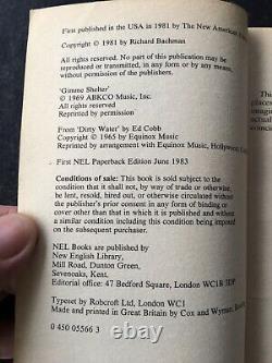 Richard Bachman Roadwork Stephen King 1983 Paperback