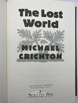 SIGNED Easton Press 2V JURASSIC PARK LOST WORLD Michael Crichton LIMITED Edition