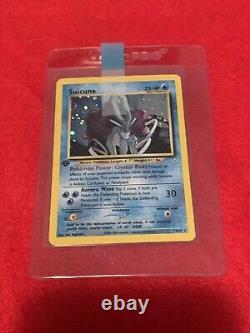 SUICUNE HOLO Pokémon card Neo Revelation 14/64 RARE Original WOTC NM-Mint PSA 9