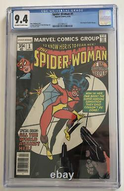 Spider-Woman 1 CGC Grade 9.4 OWithW pages 1978 Marvel Comics new origin story
