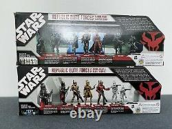 Star Wars Republic Elite Forces EE Exclusive (Both Sets) 1 Box Damaged All New
