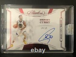 Stephen Curry 2019-20 Flawless Finishes Ruby /15 Auto MINT WARRIORS ENCASED