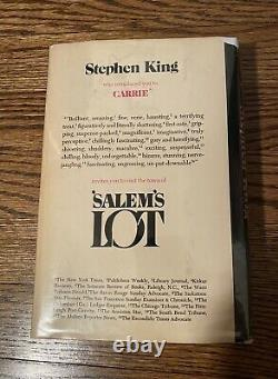 Stephen King Salems Lot 1st Edition 2nd State 1975 Q37