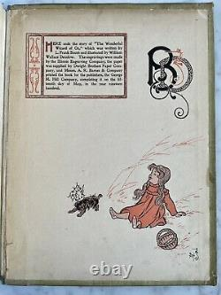 The Wonderful Wizard of Oz first edition NO RESERVE