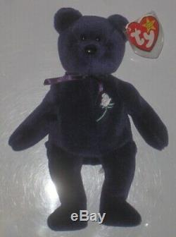 Ty Princess Diana Beanie Bear Original PVC Pellets 1997 1st Edition