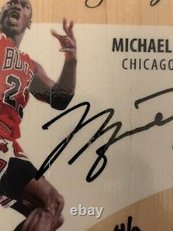 UD Supreme Hard Court Michael Jordan Auto Game Used Floor 4 Of 9 Rare