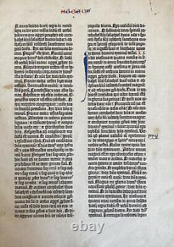 1455 Gutenberg Bible Complete Book Of Haggai Rare World's First Printed Book