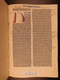 1486 Anton Koberger Incunables Sainte Bible Nuremberg Illustrated Lyra Commentaire