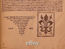 1491 Plutarque Vies Parallèles Incunable Cicéron Hannibal Platon Aristote Homer
