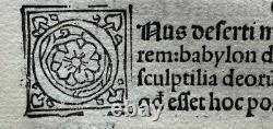 1498 Grand Fragment De 18 Feuilles Commentaria In Bibliam, Original Incunabula