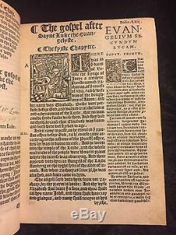1538 William Tyndale Première Édition Nouveau Testament Complete Rare Bible