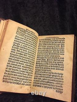 1550 John Wycliffe Pathway To Perfect Knowledge Bible A True Prologue Rare Bible