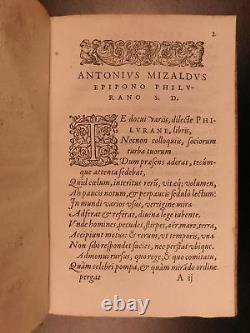 1577 Astrologie Occulte Astronomie Céleste Paradoxa Sexualité Mizauld