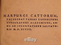 1598 Aristote Sur Les Plantes Scaliger Botanique Marburg Médiévale Manuscrit Binding