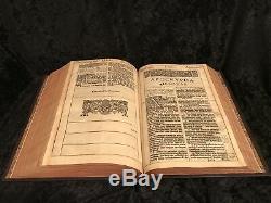 1611 Premier De Grande Elle Authorized King James Bible Ornement Reliure Complete Rare