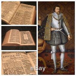 1611 Première Édition, Premier Numéro King James Bible Grand IL Rare Provenance Royal
