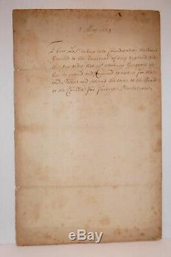 1637 Antique Manuscrit De La Nouvelle Charte-angleterre Patriotique Sla Colonial Americana