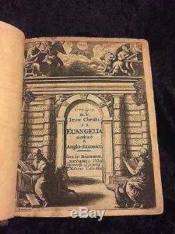 1665 Première Édition Gothique Bible Anglo-saxon Rare Old English Teutonique Lsg