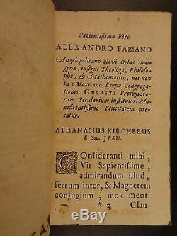 1667 1ed Kircher Sur Magnétisme Aimant Science Occulte Physique Phénomènes Magneticum