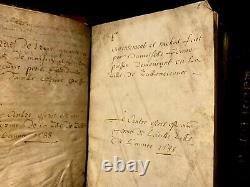 1688-1750 Manuscrits Parchemin Livre Compendium De Documents Anciens