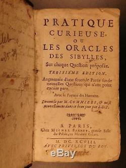 1698 Oracle De La Sibylle Comiers Fortune Kabbale Prophétie Occulte Pagan Mysticisme