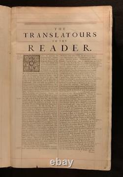 1716-1717 2vol La Sainte Bible John Baskett Vinaigre Bible George III Liaison