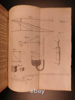 1723 1er Ed Anglais Physique Isaac Newton Optique Illustré Par Rohault & Clarke