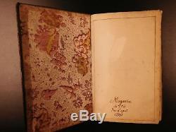 1751 Beau Manuscrit Handwritten Bible Allemande Psaumes Prières Illustration