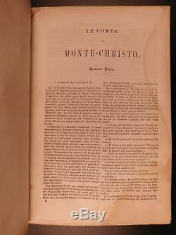 1846 1st American Ed Le Comte De Monte-cristo Alexandre Dumas Rare & Exquis