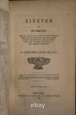 1849 1sted Ninive Et Ses Restes Chaldéens Babylon Ancient Assyria Illustrated