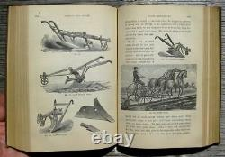 1880 Antique Farm Guide House Barn Horse Cow Bees Plow Tools Victorian Binding
