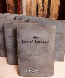 1925 Originale Loi De La Réussite Du Manuscrit Leçons / Napoleon Hill / Signé