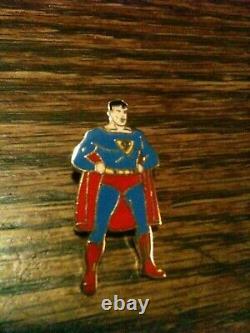 1940 Superman Émail Pin Pristine Gem Mint Action DC Comics Rare Clark Kent L@@k