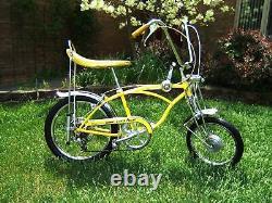 1969 Schwinn Lemon Peeler Krate Stingray 1ère Édition Propriétaire Original Wesome
