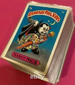 1985 Os1 Topps Garbage Pail Kids Original 1st Series 1 Matte Set Gpk Nasty Nick