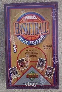 1991-92 Upper Deck Basketball 36 Pack Foil Box Scellé Première Édition