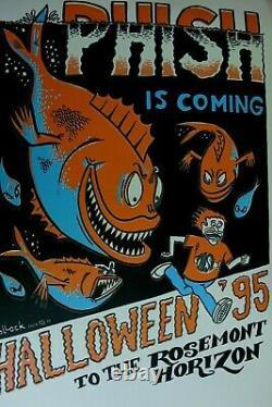 1995 1ère Édition Originale Phish Rosemont Horizon Halloween Affiches Pollock Mint