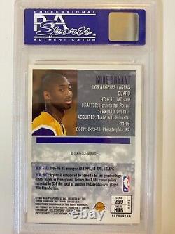 1996 Kobe Bryant Topps Finest #269 Or Heirs Avec Revêtement Rc Psa 9 Réfracteur Rare