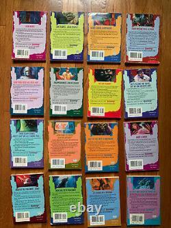 1-62 Jeu Complet De L'original Goosebumps Livres Couvertures Originales R. L. Stine