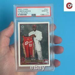 1ère Édition 2003-04 # 221 Lebron Topps James Rc Rookie Psa Cavaliers 10 Gem Mint