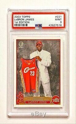 1ère Édition 2003-04 Topps Lebron # 221 Rare Rookie Rc Psa 9 Mint! Low Pop