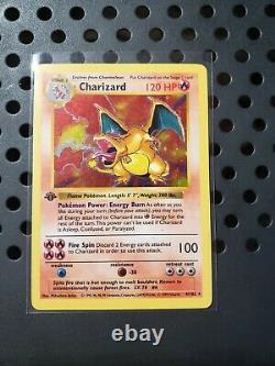 1ère Édition Shadowless Holo Charizard Base Set 4/102 Wotc Original 1999 Rare